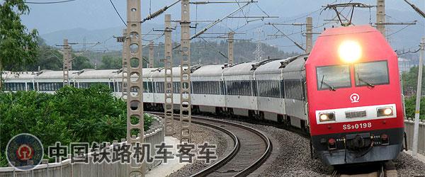 中国鉄路の機関車と客車