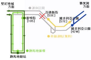 雨傘革命による香港トラムの運行影響