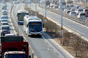 BRT3線トロリーバス運行開始