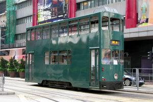 香港トラムのVVVF車とサボ